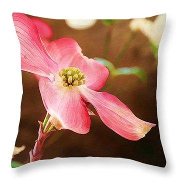 Dogwood Elegance Throw Pillow by Darren Fisher