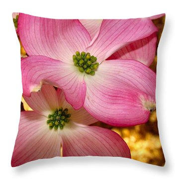 Dogwood In Pink Throw Pillow