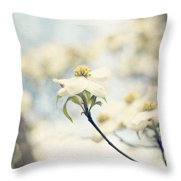 Dogwood No 1 Throw Pillow by Erin Johnson