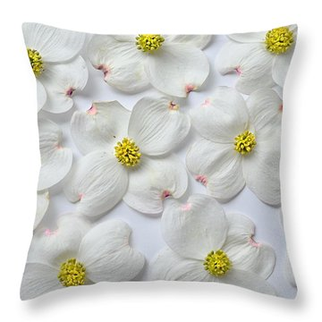 Dogwood Season Number Three Throw Pillow by Lena Wilhite
