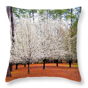 Dogwoods Throw Pillow