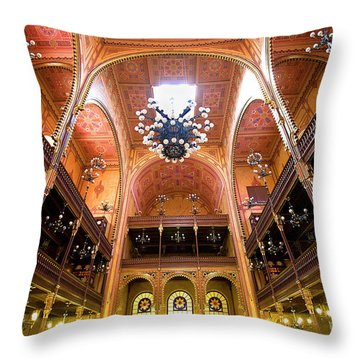 Dohany Synagogue In Budapest Throw Pillow by Madeline Ellis