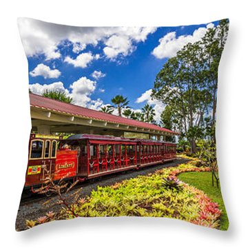 Dole Plantation Train 3 To 1 Aspect Ratio Throw Pillow