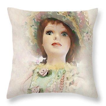 Doll 624-12-13 Marucii Throw Pillow by Marek Lutek