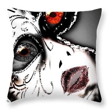 Doll Face Throw Pillow by Yvon van der Wijk