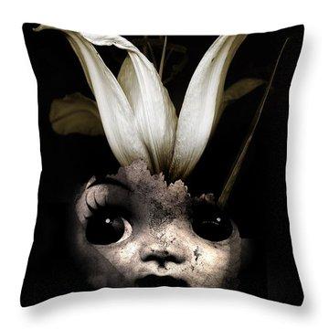 Doll Flower Throw Pillow