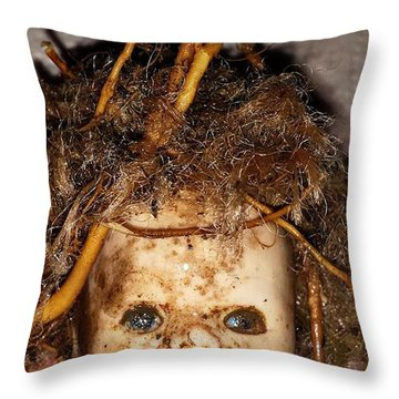 Doll Head Throw Pillow