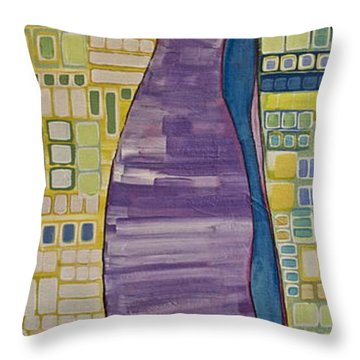 Doll Thief Throw Pillow by Donna Howard