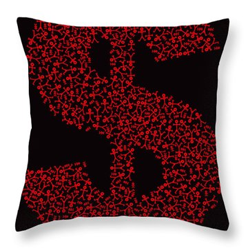 Dollar People Icon Throw Pillow by Thisisnotme
