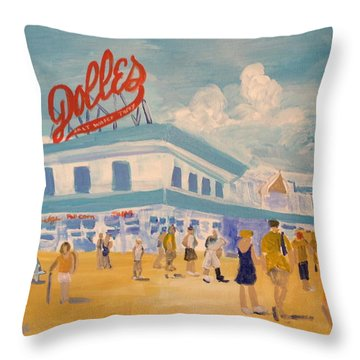 Dolles Salt Water Taffy Throw Pillow