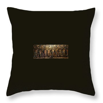 Throw Pillow featuring the painting Immortals by James Lanigan Thompson MFA