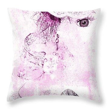 Dolly Throw Pillow by Davina Washington