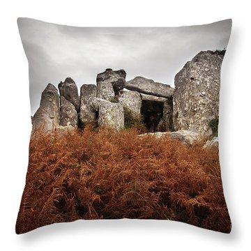 Dolmen Throw Pillow by Carlos Caetano