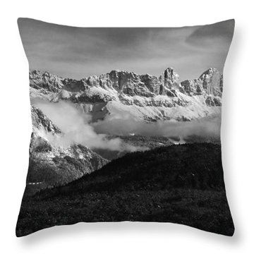 Dolomite Mountains - Italian Alps Throw Pillow