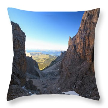 Throw Pillow featuring the photograph Dolomites At Morning by Antonio Scarpi