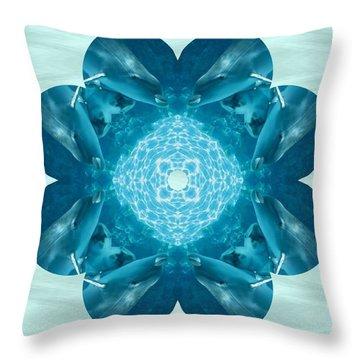 Dolphin Kaleidoscope Throw Pillow