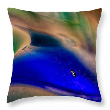 Dolpins Throw Pillow by Omaste Witkowski