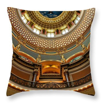 Dome Designs - Iowa Capitol Throw Pillow