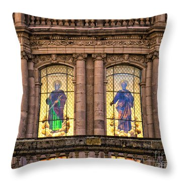 Throw Pillow featuring the photograph Dome Grand Cathedral Of Guadalajara by David Perry Lawrence
