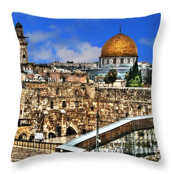 Throw Pillow featuring the photograph Dome Of The Rock by Doc Braham