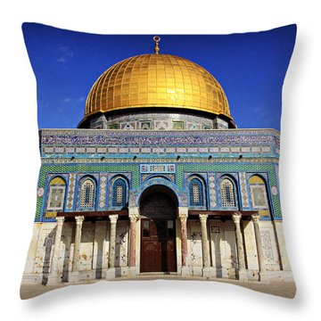 Dome Of The Rock Throw Pillow by Stephen Stookey