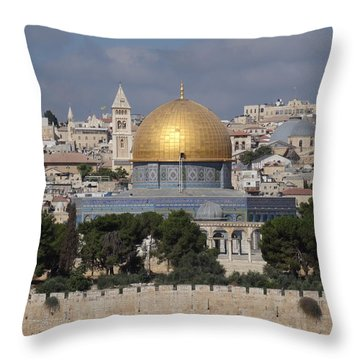 Dome On The Rock  Throw Pillow