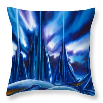 Domed City Throw Pillow by James Christopher Hill