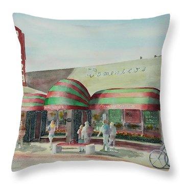 Domenicos In Long Beach Throw Pillow