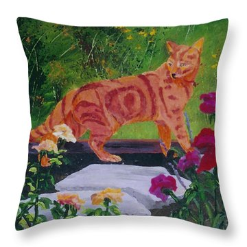 Domestic Tiger Throw Pillow