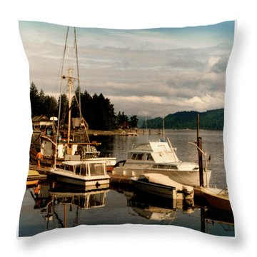 Domino At Alderbrook On Hood Canal Throw Pillow by Jack Pumphrey