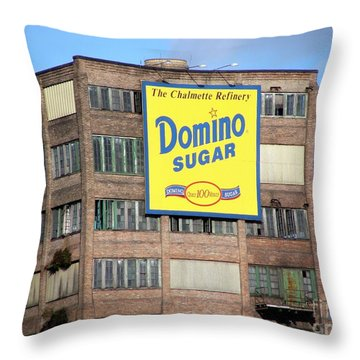 Domino Throw Pillow by Ed Weidman