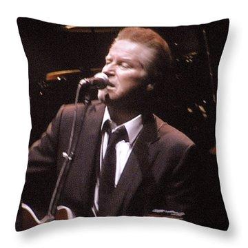 Don Henley Throw Pillow by Melinda Saminski