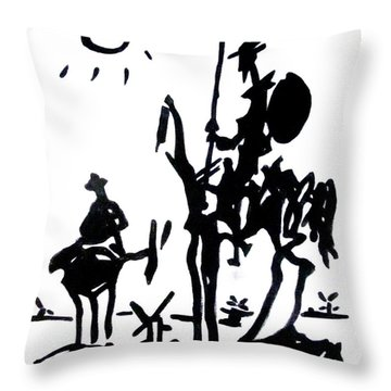 Throw Pillow featuring the painting Don Quixote by Michelle Dallocchio