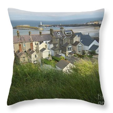 Throw Pillow featuring the photograph Donaghadee Northern Ireland View From The Moat by Brenda Brown