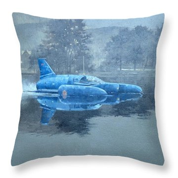Donald Campbell And Bluebird Oil On Canvas Throw Pillow
