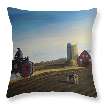 Done For The Day Throw Pillow by Norm Starks