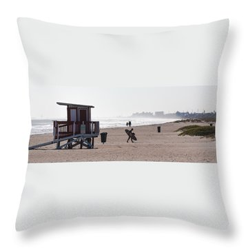 Done Surfing Throw Pillow