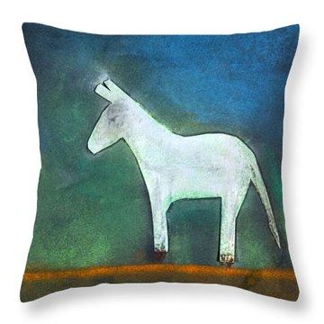 Donkey, 2011 Oil On Canvas Throw Pillow by Roya Salari