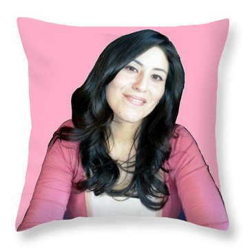 Donna In Pink Throw Pillow by Bruce Nutting