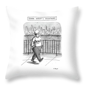 Donna Karan's Nightmare Throw Pillow