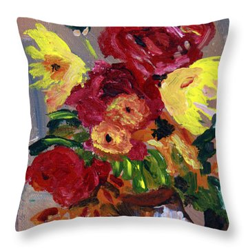 Donna's Bouquet 2 Throw Pillow