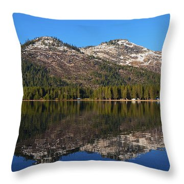 Donner Lake Reflection Throw Pillow