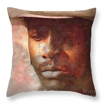 Donny Hathaway Throw Pillow by Vannetta Ferguson