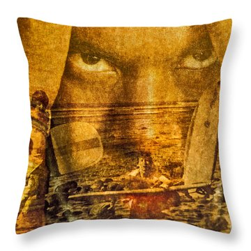 Don't Be Afraid Of The Surf Throw Pillow