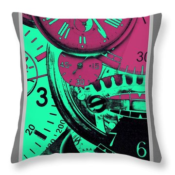 Don't Be Late Throw Pillow