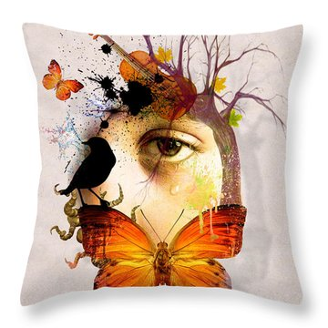 Don't Cry For Me Throw Pillow by Mark Ashkenazi
