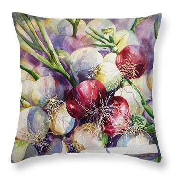 Throw Pillow featuring the painting Don't Cry For Me by Roxanne Tobaison