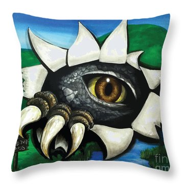 Don't Feed The Dinosaur Throw Pillow