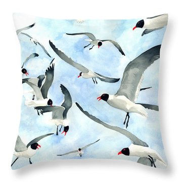 Don't Feed The Seagulls Throw Pillow