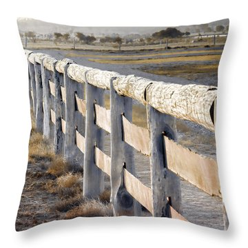 Don't Fence Me In Throw Pillow by Holly Kempe